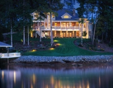 Architectural Accent Lighting Lake House 1