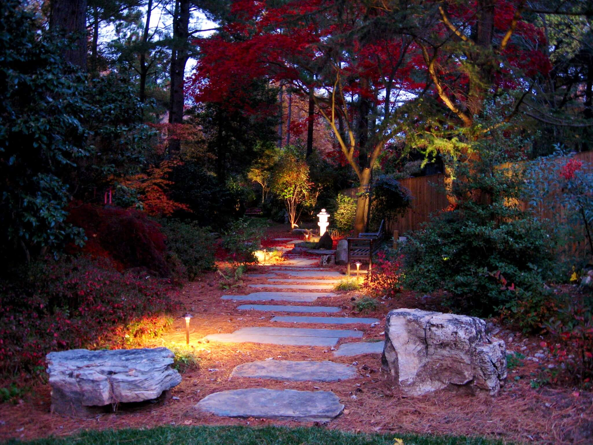 Residential outdoor lighting outdoor lighting expressions for Landscape tree lighting
